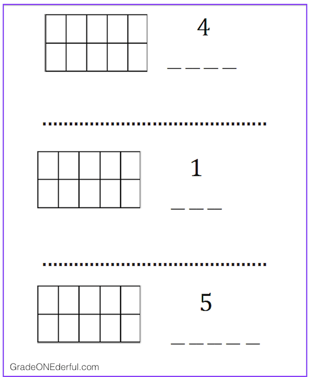 Free printable booklet for learning numbers to 10. GradeONEderful.com