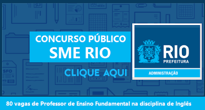 apostila Concurso SME RIO 2016 para Professor de Inglês - Apostila SME-RJ 2017
