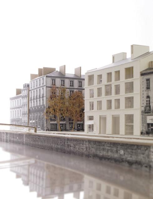 Le projet de nouveau bâtiment à l'emplacement de l'ancien Chat qui Pêche - Vue du sud-est