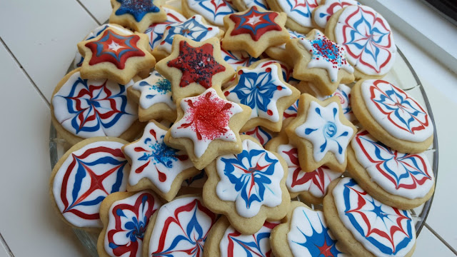 Fourth of July Fireworks Sugar Cookies
