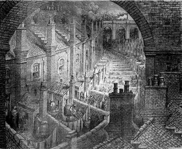 Gustave Dore's illustration of London housing