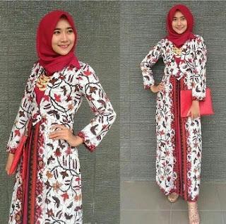 Permalink to Koleksi Model Gamis Batik Remaja Kombinasi Modern Terbaru