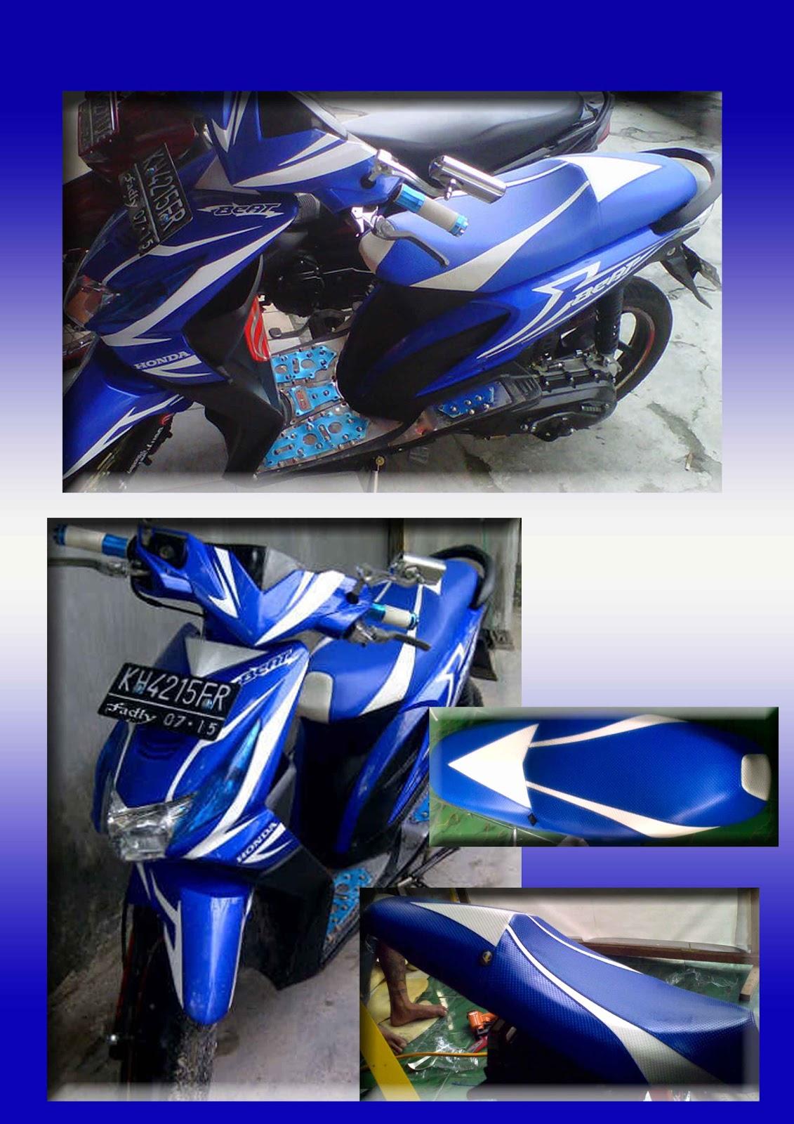 Bengkel Jok Motor Beat Blue