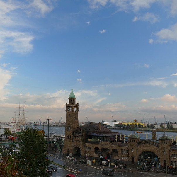 Hamburg, Hafen, Aussicht, Meer, Landungsstege, Rickmer Rickmers, St Pauli, Hafenstrasse