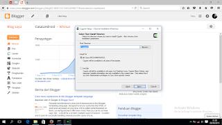 Screenshot pilih root installation C:\cygwin - catatandroid.blogspot.com