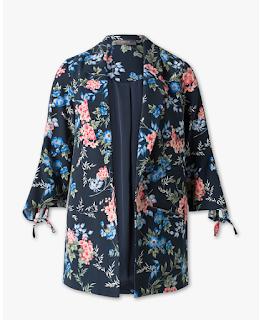blazer long fleurie C&A