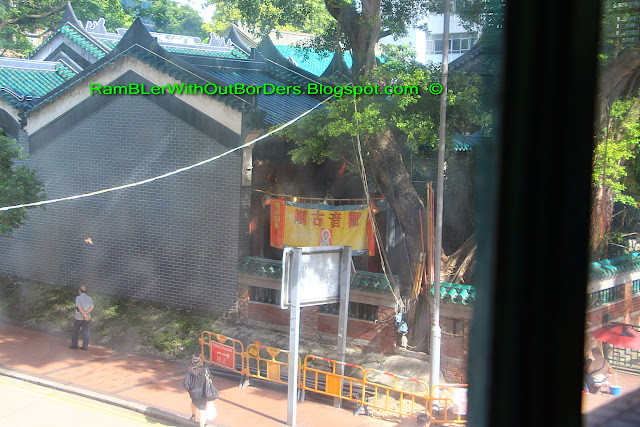 Aerial view of Tin Hau Temple from Mido Cafe, Yau Ma Tei, Kowloon, Hong Kong