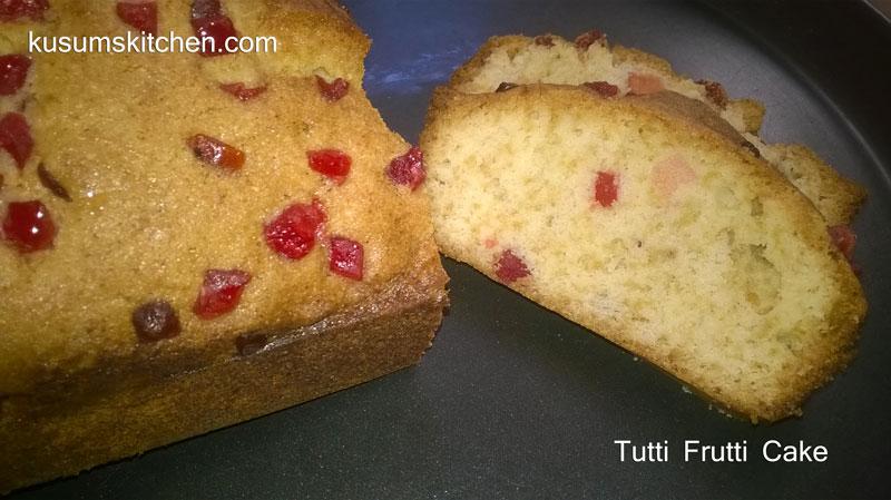 Tutti Frutti Cake Recipe In Microwave