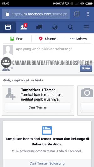 Cara Mendaftar Facebook lewat Hp Android dengan No Telepon