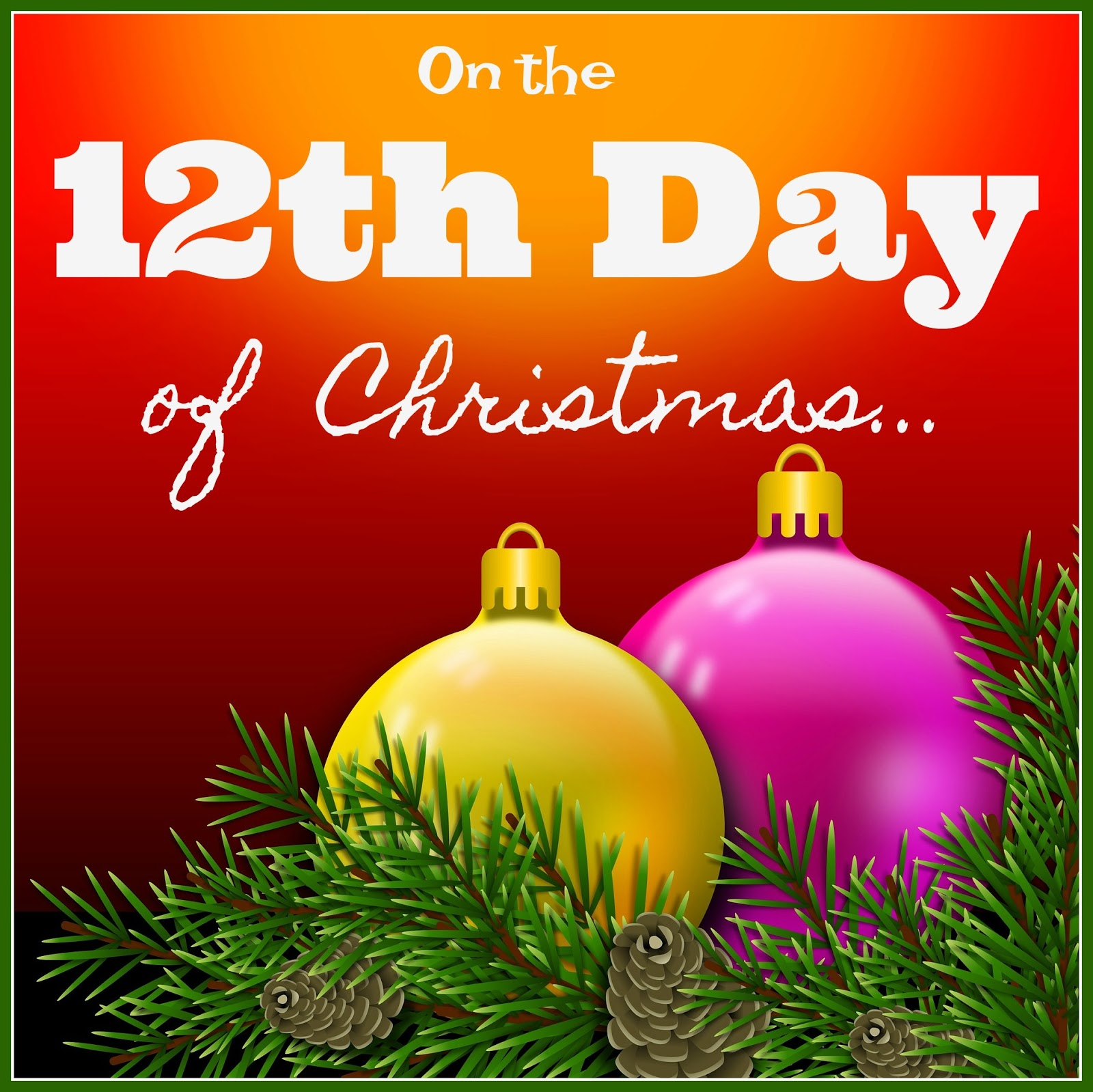 On The 12th Day Of Christmas.An Inside To My Heart On The 12th Day Of Christmas