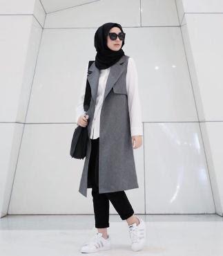 Gaya hijab casual terbaru