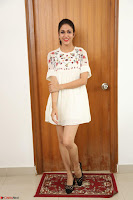 Lavanya Tripathi in Summer Style Spicy Short White Dress at her Interview  Exclusive 288.JPG