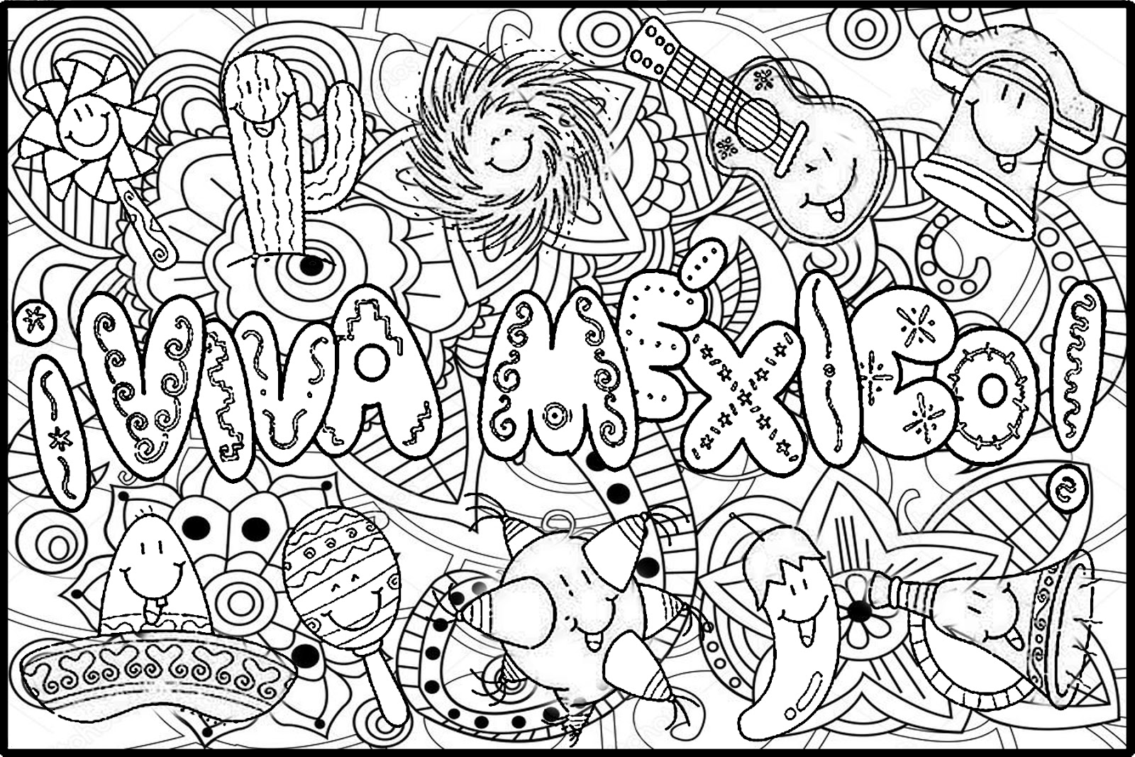 Dibujos De Mexico Para Colorear Cultura Miscelaneas