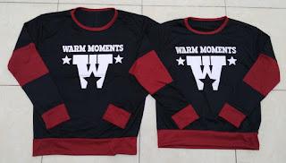 Jual Online Sweater Warm Black Maroon Couple Murah Jakarta Bahan Babytery Terbaru