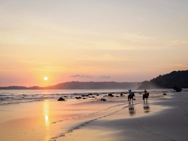 Resort có mái lợp tấm sinh thái đòn chào cảnh bình minh