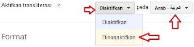 Aktifkan transliterasi