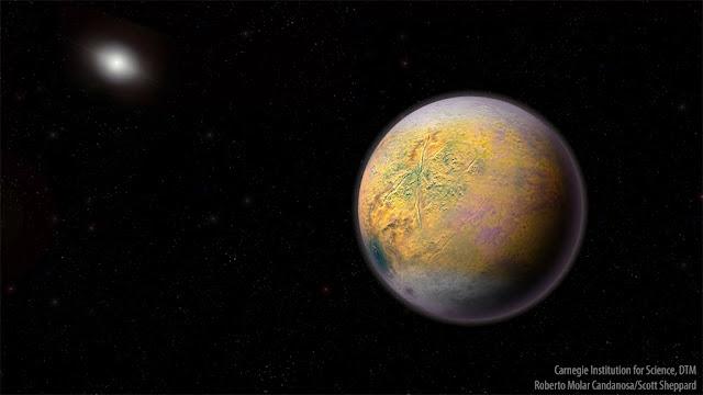 Ilustração artistica do hipotético Planeta X