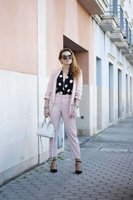 Inspirations with M: Polka dot e o rosa | Look