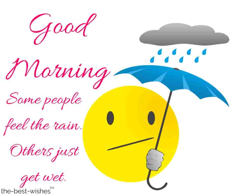 good morning images in rainy day