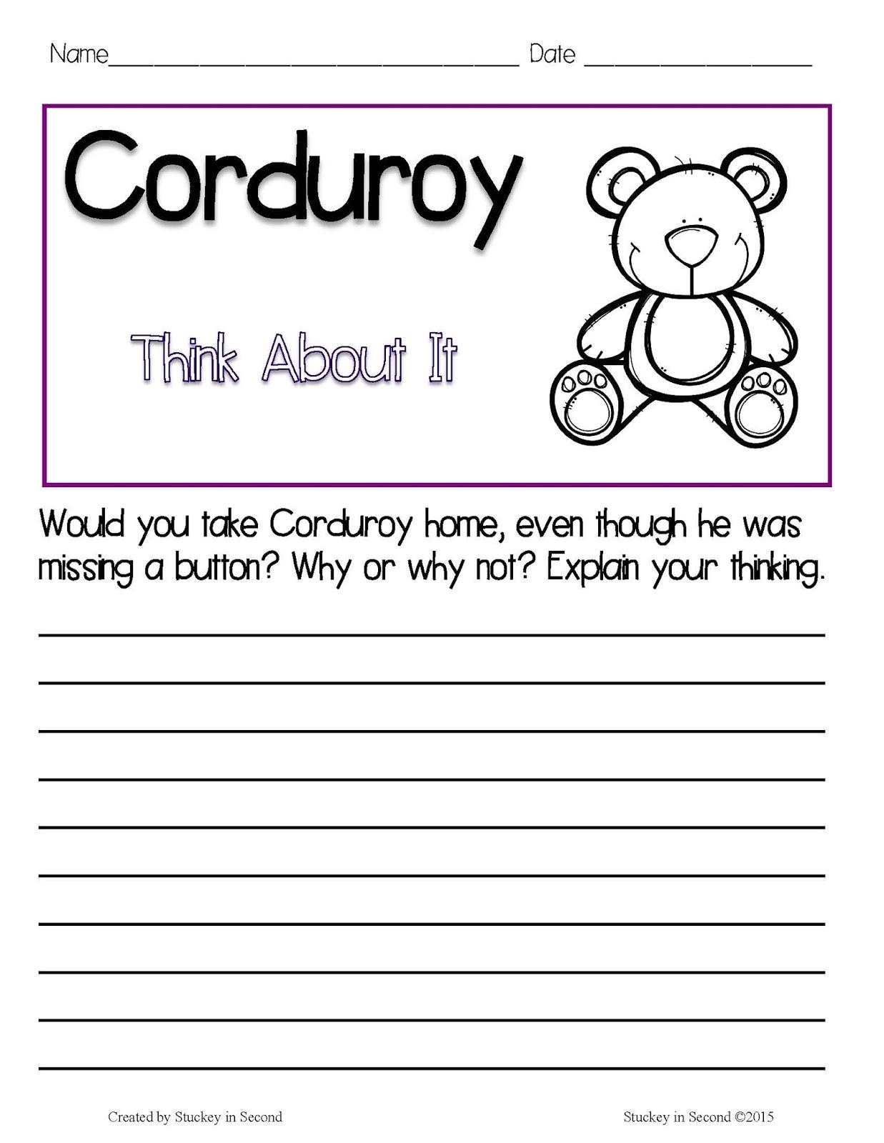 Stuckey In Second Literature Companion Units Corduroy