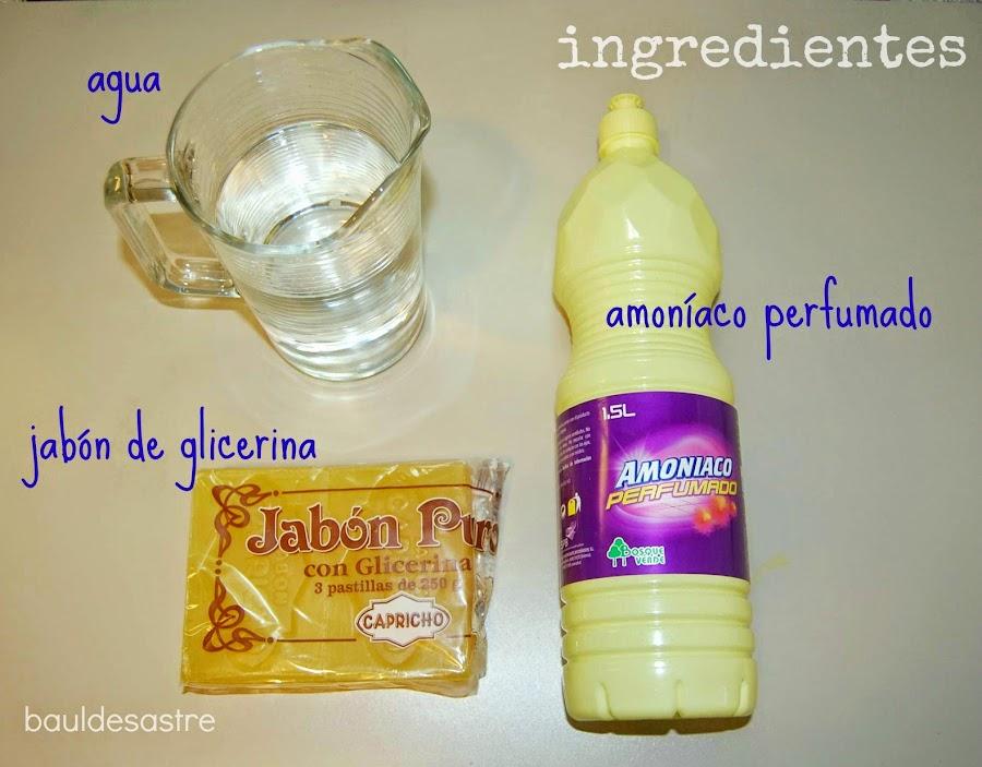 ingredientes para jabón casero