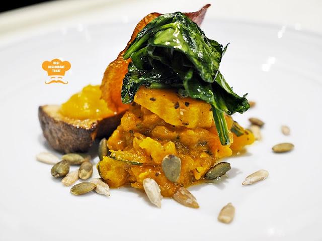 Maple Glaze Pumpkin - Vegetarian Fine Dining Dishes