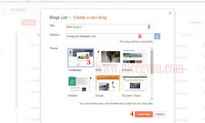 follow 4 step and complete creat blog