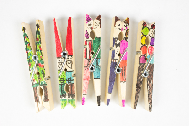clothespin doodles craft
