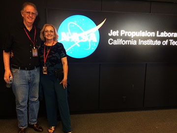 Resident Astronomers attend open house tour at JPL (Source: Palmia Observatory)
