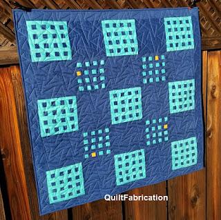 Improv-Patchwork-Hippo-Blue-Baby-Quilt