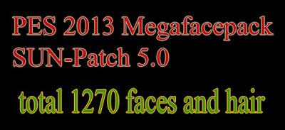PES 2013 Mega Facepack untuk SUN Patch 5.0