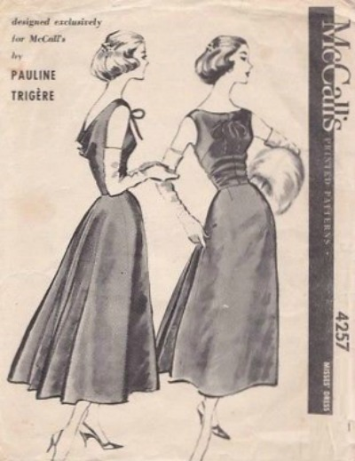 Pauline Trigere 1950's McCall's Evening Dress Pattern