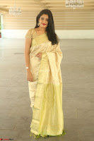 Harshitha looks stunning in Cream Sareei at silk india expo launch at imperial gardens Hyderabad ~  Exclusive Celebrities Galleries 033.JPG