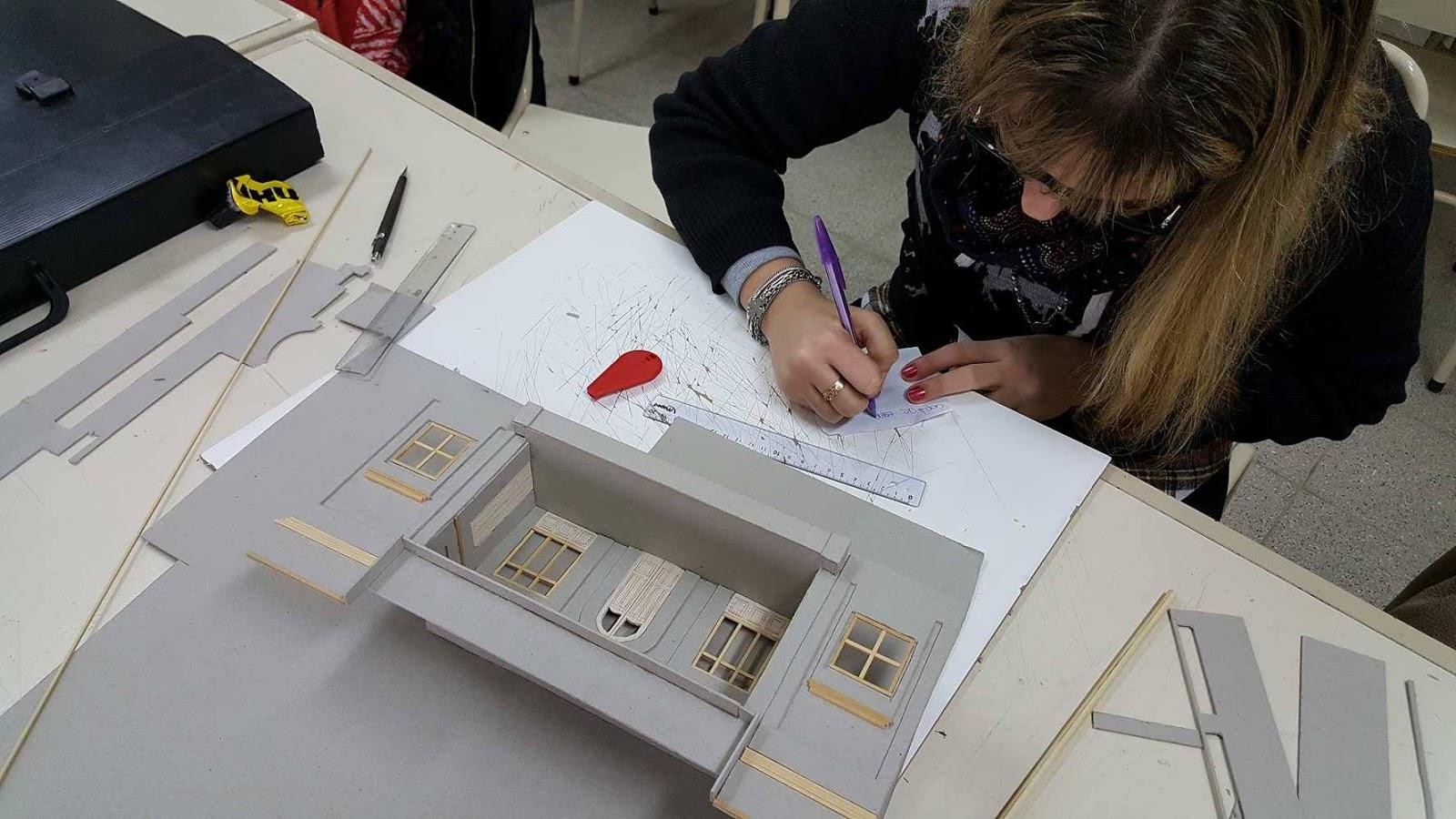 Maqueta tec sup dise o de interiores edificios Escuela arte 4 diseno de interiores