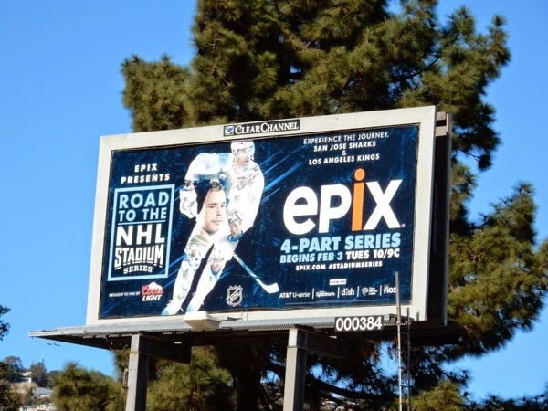 Road to NHL Stadium Epix billboard
