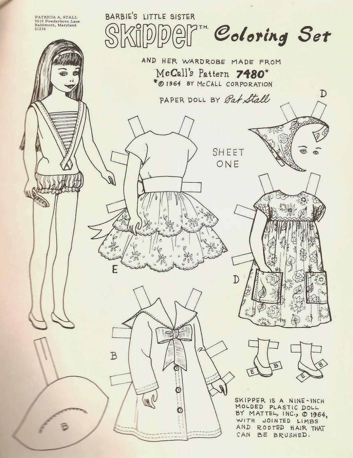 Miss Missy Paper Dolls Barbie