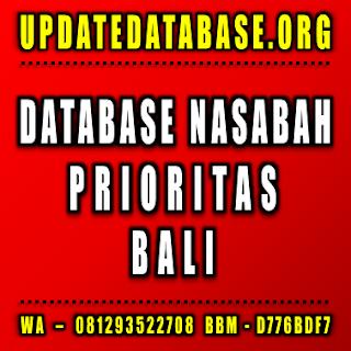 Jual Database Nasabah Prioritas Denpasar Bali