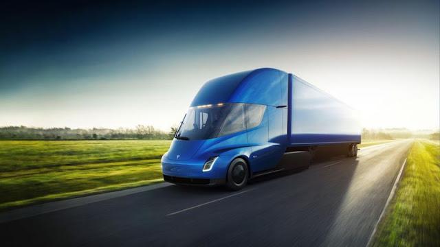tesla semi electric truck design