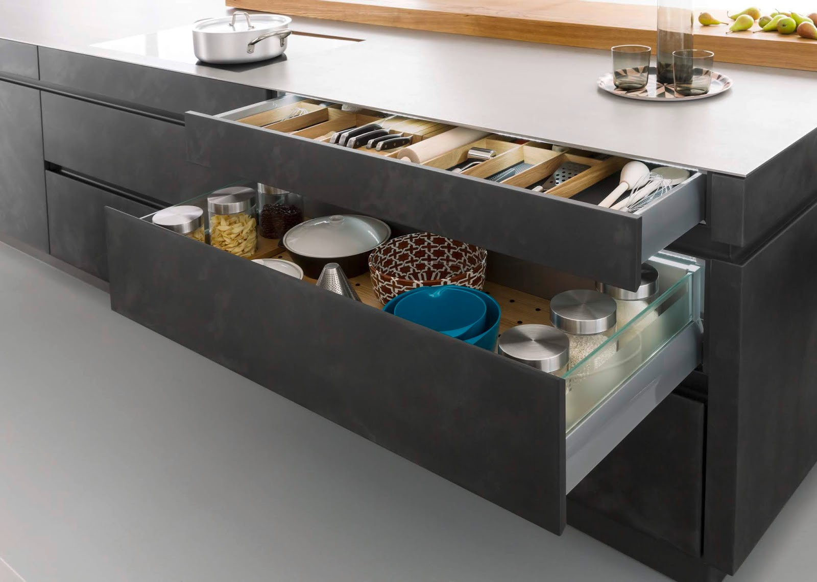 Storage system in the kitchen