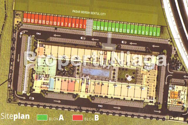 Properti-Ruko-Sentul-Tower-Apartemen-(STA)-Site-Plan