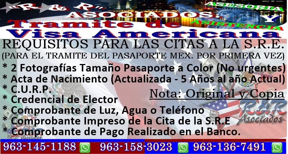 R&R ASOCIADOS *** TRAMITE DE VISAS AMERICANAS.: *** REQUISITOS Y ...