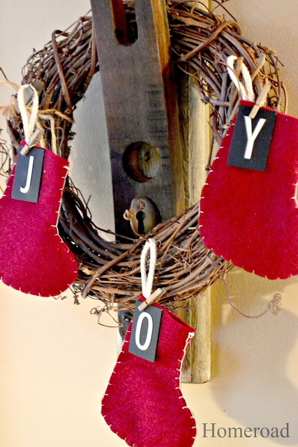 mini industrial Christmas stockings www.homeroad.net