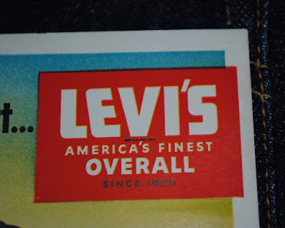 "Levis Logo on 1940s Blotter - ""Levi's America's Finest Overall since 1850"""