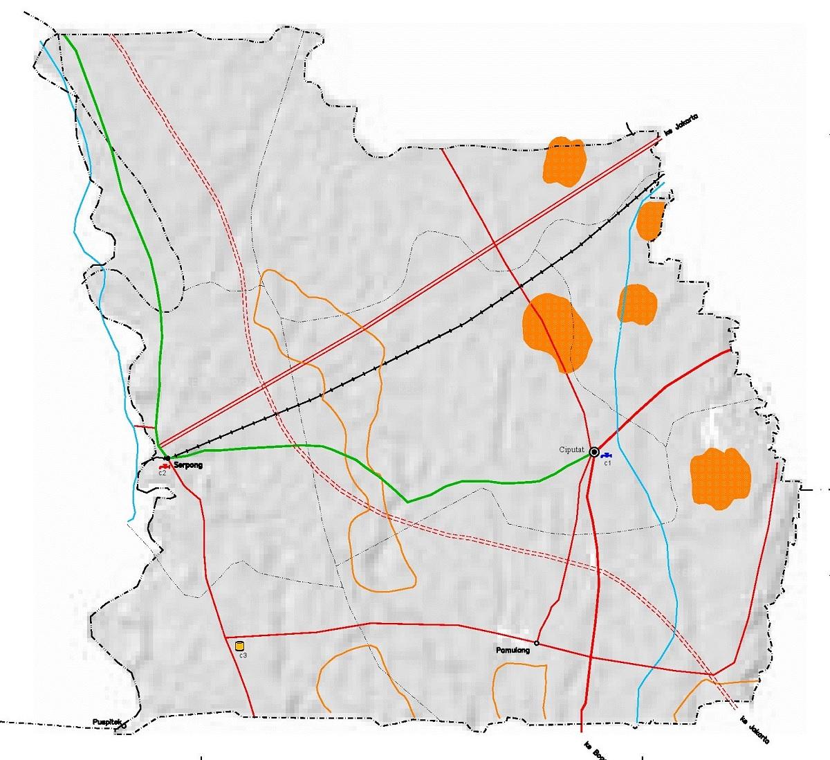 Peta Jalan di Kota Tangerang Selatan