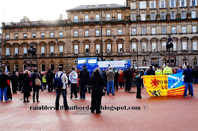 Political rally at George Square, Glasgow, Scotland, UK