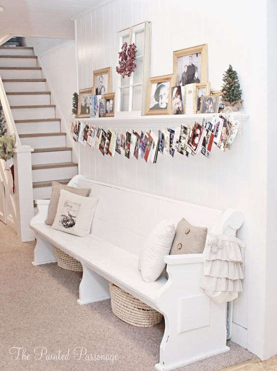 display christmas cards on shelf