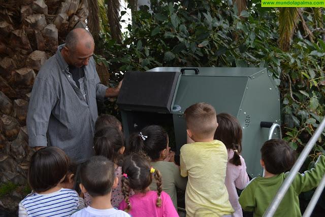 Diez centros educativos de La Palma se suman al proyecto de composteras del Consorcio