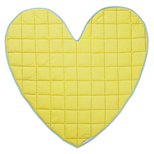 Reversible Stella Heart Play Mat available at Sage and Clare