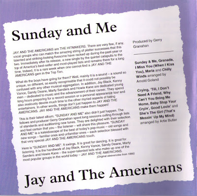 Jay & The Americans - Jay And The Americans (1965) & Sunday And Me (1966)