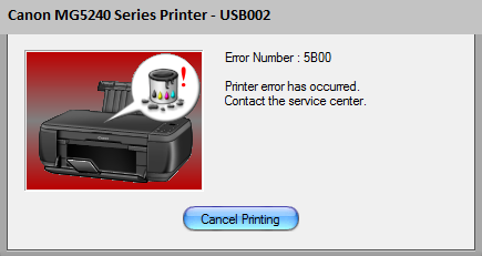 Canon MG5240 Error 5B00